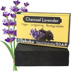 Xà Phòng Handmade Than Hoạt Tính Oải Hương Charcoal Lavender, Xà Bông Handmade, Nguyên Liệu Tự Nhiên, Bảo Vệ Và Giúp Da Sáng Khỏe