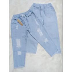 [Miễn phí vận chuyển] Quần Baggy Jean Nữ Lưng Thun Thời Trang