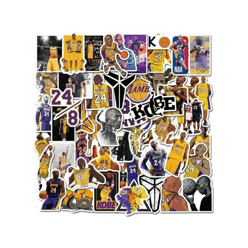 Bộ hình dán Logo Team NBA hình Kobe hình Siêu Anh Hùng đẹp mắt – 120