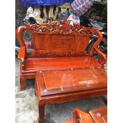 Bộ bàn ghế Nghê đỉnh tay 12 gỗ Xà cừ - Tuấn Long