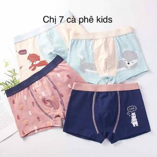 quần lót bé trai- quần sịp bé trai set 4 quần cho bé 7-45kg