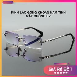 Kính lão thị chống UV mắt giả râm chống mỏi mắt và nhức mắt kính lão thị viễn thị sẵn độ gọng khoan nam nữ