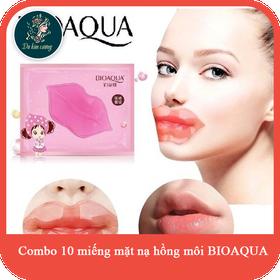 combo 10 mặt nạ dưỡng ẩm môi cao cấp giúp hồng môi như hàn quốc BIOAQUA Chính hãng - matnamoi10