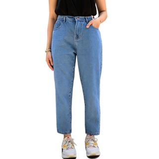 Quần jean baggy bigsize unisex thời trang Ulzzang màu xanh trơn - QJ5003 thumbnail