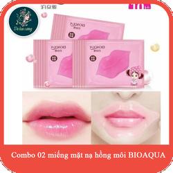 Combo 2 mặt nạ dưỡng ẩm môi Chính hãng cao cấp giúp hồng môi BIOAQUA