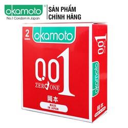 Bao Cao su Okamoto 0.01 Hydro Polyurethane Siêu Mỏng Hộp 2 Cái