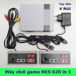 Máy chơi game cổ điển NES Classic 620 games trong 1 với 2 tay cầm 4 nút