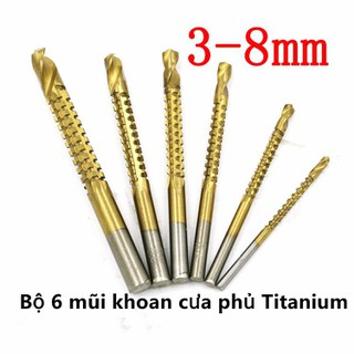 Bộ 6 mũi khoan cưa phủ Titanium 3-8mm - 145 thumbnail