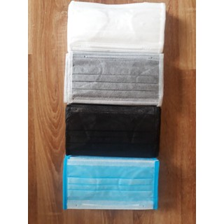 Hộp 50 Chiếc Khẩu Trang Y Tế Mix 4 Màu (xanh, xam, trang, den) 4 lớp - Hộp trộn 4 màu xanh- trắng- xám- đen 4