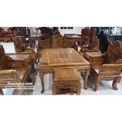 Bộ bàn ghế trường kỷ gỗ gụ ta Quảng Bình siêu VIP - Salon gỗ đẳng cấp