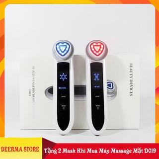 Máy Massage mặt - Máy Chăm Sóc Da Toàn Diện 5in1 (Làm Sạch Da+Đẩy Tinh Chất+Nâng Cơ+Tái Tạo Collage+Làm Lạnh) - Máy massage mặt D019 chính hãng thumbnail