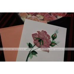 Thiệp quilling hoa sen