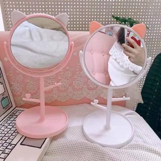 GƯƠNG TAI MÈO ĐỂ BÀN, gương mèo, gương trang điểm, gương để bàn mini - 2961_30740649 thumbnail
