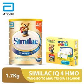 Bộ 1 lon sữa Similac IQ 4 HMO 1,7kg tặng bộ tô màu trị giá 150,000đ - ABB000256B