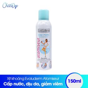 Xịt khoáng dưỡng da cấp ẩm Evoluderm Atomiseur Eau Pure 150ml hàng công ty chính hãng - MP00044BS.02