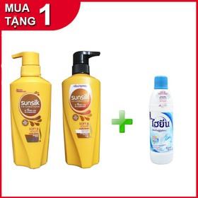 Combo dầu gội+ dầu xả Sunsilk Vàng Thái lan 450ml- TẶNG 1 Tẩy Quần Áo Trắng Hygiene 250ml Thái Lan - sunsilk+hygiene