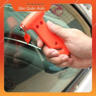 Búa phá kính thoát hiểm kiêm cắt dây an toàn trên ô tô - A60 thumbnail