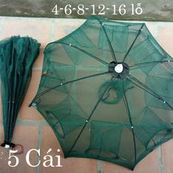 combo5 lồng ô bát quái 4-6-8-12-16 cửa - lưới bát quái siêu nhậy- lưới bát quái