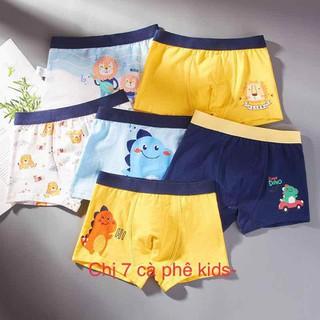 combo 6 quần sịp bé trai đủ size cao câp - quần lót trẻ em