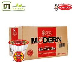 [Miễn phí vận chuyển] Thùng 24 Mì Ly Modern Lẩu Thái Tôm 65G - Acecook