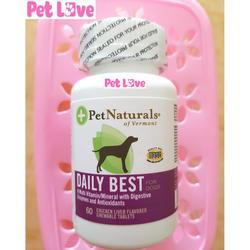 Daily Best (Mỹ) bổ sung vitamin, men tiêu hóa, khoáng chất cho chó 1 hộp x 60 viên