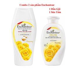 COMBO tắm gội Enchanteur hương nước hoa Deluxe Charming,hương thơm quyến rũ nồng nàn