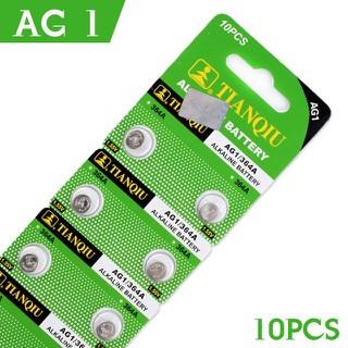 1 Vỉ 10 viên pin cúc áo AG1 dùng Cho Điều Khiển, Đồng Hồ, Đồ Chơi....... - Pin AG1 thumbnail