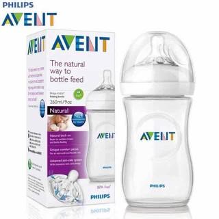 Bình sữa AVENT Natural (Bình cổ rộng) Thể tích 260ml hộp đơn - bình AVENT 260ml đơn thumbnail