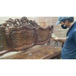 Bộ bàn ghế kiểu louis pháp gỗ mun đuôi công - Tuấn Long