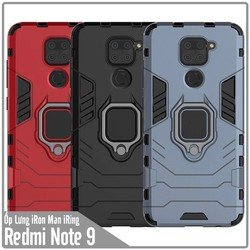 Ốp lưng Redmi Note 9 - Redmi 10X 4G iRON - MAN IRING Nhựa PC cứng viền dẻo chống sốc