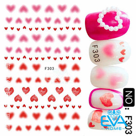 Miếng Dán Móng Tay 3D Nail Sticker Tráng Trí Hoạ Tiết Chủ Đề Tình Yêu F303 - 0010002624