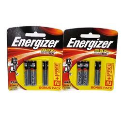 Bộ 2 Vỉ Pin Energizer Alkaline Max AAA E92 2+1 - Hàng Chính Hãng Thương Hiệu Mỹ
