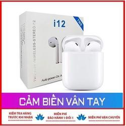 Tai Nghe Bluetooth 5.0 i12 TWS [THÔNG MINH CẢM ỨNG VÂN TAY] Màu trắng)