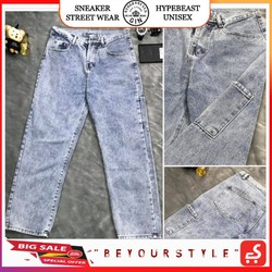 Quần Jeans Ống Suông Unisex GG - Gin Store