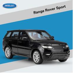 Mô hình xe ô tô Range Rover tỉ lệ 1:24 hãng Welly bằng kim loại mở được 2 cửa xe và nắp máy quà tặng đồ chơi trẻ em hoặc trưng bày