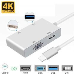 Cáp Chuyển Type-C ra HDMI / VGA / DVI / USB 3.0 [Chính Hãng - Có Sẵn]