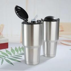 Bình giữ nhiệt inox 900ml (kèm 2 ống hút và túi đựng)