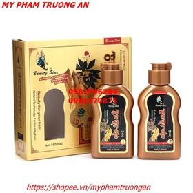 Bộ 2 chai dầu gội đen tóc Beauty Star Hàn Quốc 200ml và 05 mũ trùm đầu - HX1257 - HX1257