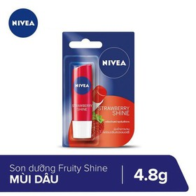 Son dưỡng môi Fruity Shine Strawberry Lip Balm Nivea 4.8g - 85083