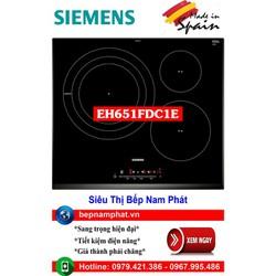 Bếp từ 3 vùng nấu cao cấp Siemens EH651FDC1E 4 mức chiên , xào, rán nhập khẩu Tây Ban Nha