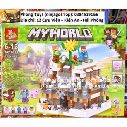 Lắp ráp xếp hình LeGo MineCraft My World 10051: Căn cứ kim cương bảo vệ cây 778+ chi tiết