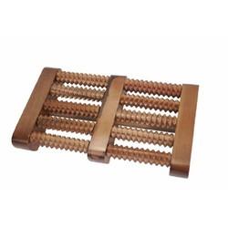 Bàn lăn gỗ massage chân 5 hàng gỗ thiên nhiên cao cấp
