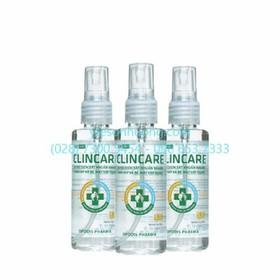 Combo 3 chai - Dung dịch rửa tay sát khuẩn Clincare S.H 70ml - clincare005