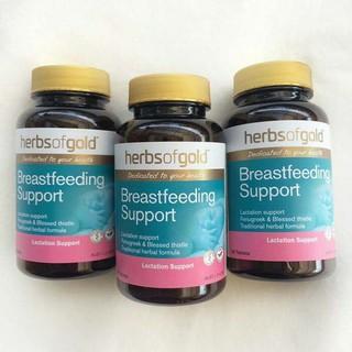 Viên uống lợi sữa Herbs Of Gold Breastfeeding Support 60 viên Úc - Kích thích ra sữa thumbnail