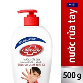 Nước Rửa Tay Lifebuoy Bảo Vệ Vượt Trội 500G - NRTLB500G