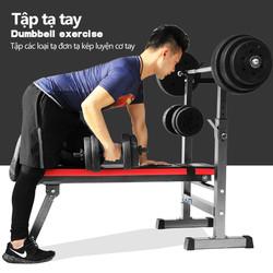 ghế tập tạ đa năng ghế gập bụng ghê tập gym đa năng thiết bị thể thao có thể gấp gọn tiện lợi nhanh chóng màu đỏ đen mạnh mẽ