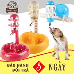 Dụng cụ ăn uống cho mèo - Bộ bình nước tự động cho chó mèo kết hợp máng ăn 2 ngăn - PG Pet Shop - PK4