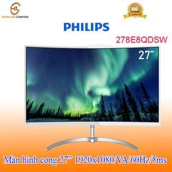 Màn hình cong 27inch Philips 278E8QDSW (1920x1080/VA/60Hz/5ms) - Hãng phân phối
