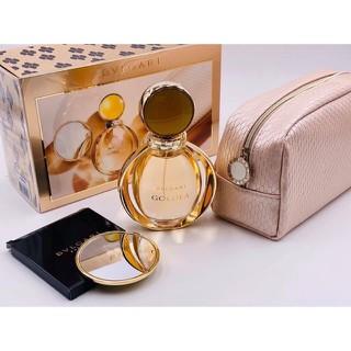 Set Nước hoa Nữ Bvlgari Goldea EDP 90ml + gương soi+ví cầm tay - set n.hoa nữ BVL 90ml gương ví thumbnail