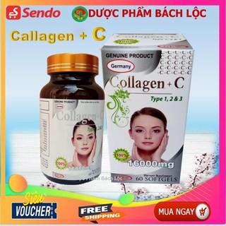 Viên uống đẹp da Collagen +C Type 123 giảm thâm nám tàn nhang, ngừa nếp nhăn, chống lão hóa - Hộp 60 viên - COLLAGEN C 1600mg thumbnail